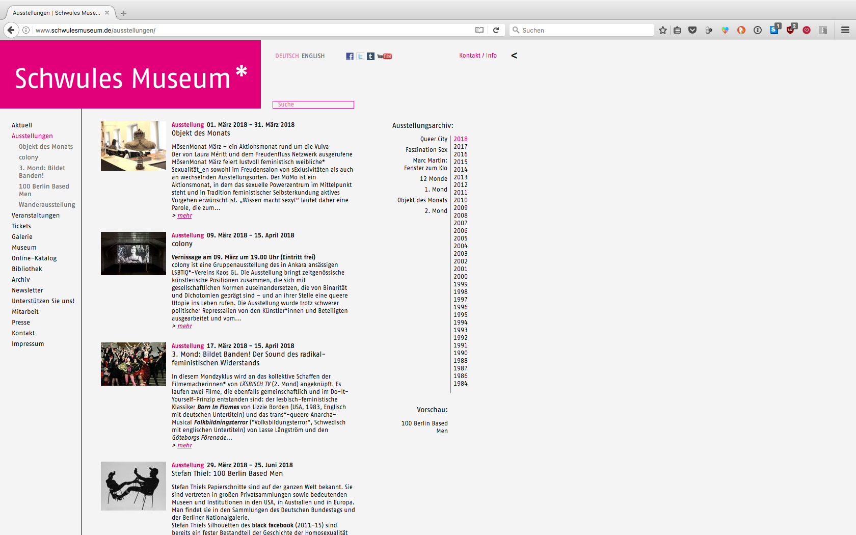 VERA HOFMANN — Schwules Museum Corporate Design