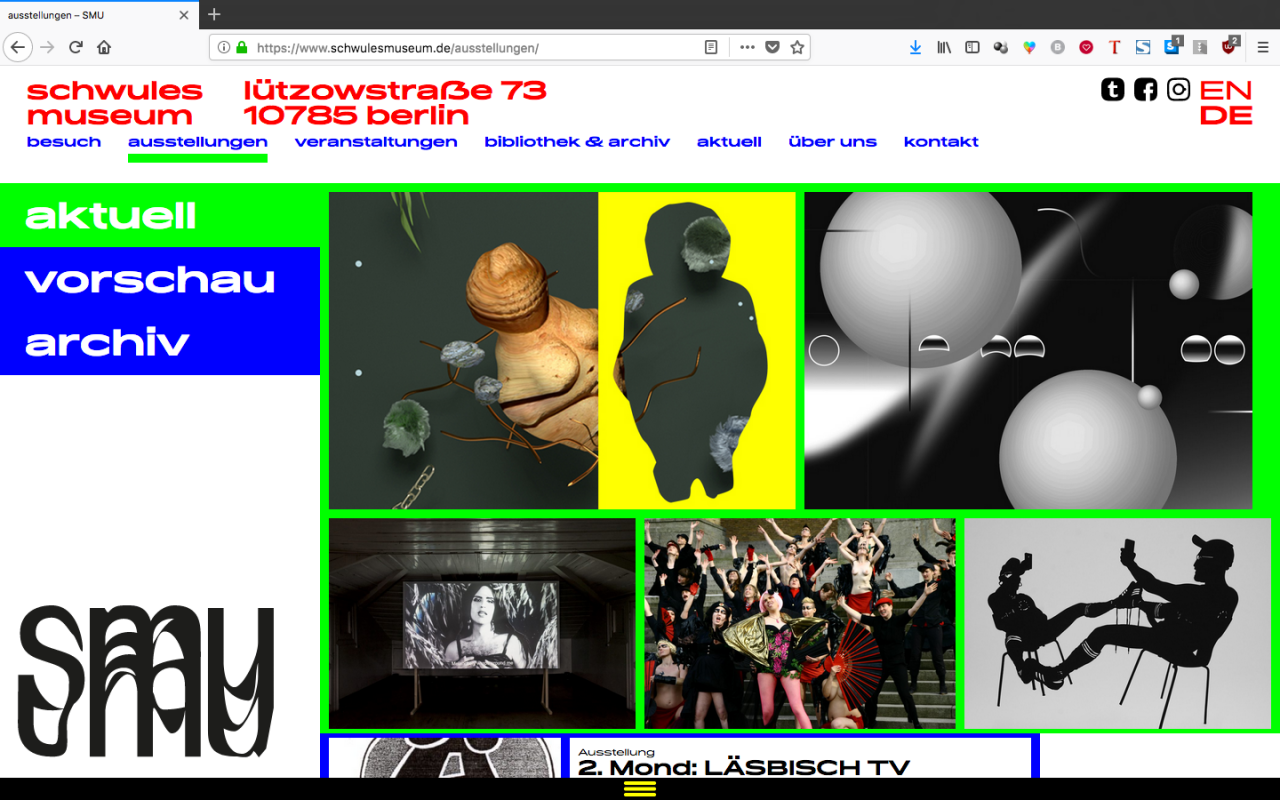 VERA HOFMANN Schwules Museum Corporate Design
